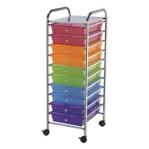 buy mobile storage cart 10 drawer multi os1