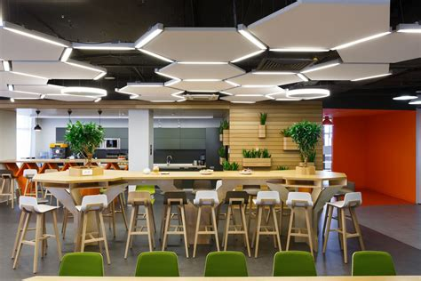 Wooden Chair Designs by Interesting And Impressive Modern Office Cafeteria Design