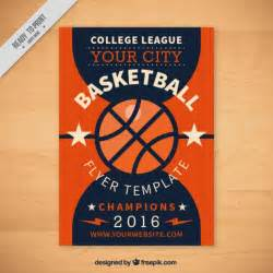free basketball templates basketball flyer template vector free