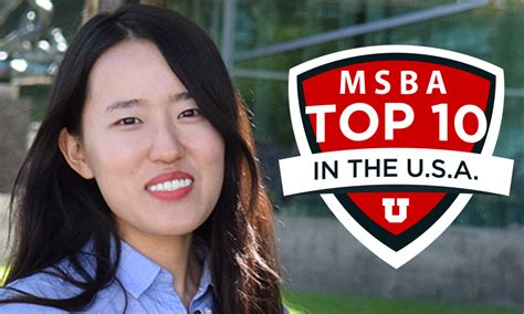 One Year Mba Utah by Ms Business Analytics Ranked Top 10 David Eccles School