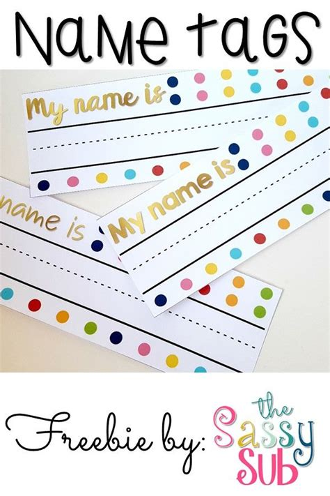 Letter Name Tags