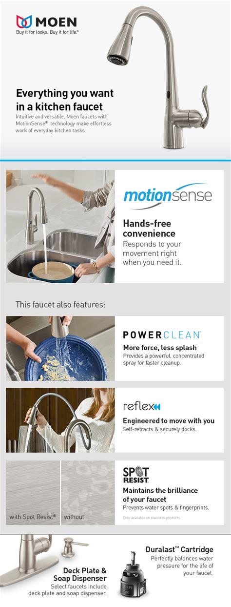 7565ec moen align series motionsense kitchen faucet chrome moen align single handle pull down sprayer touchless