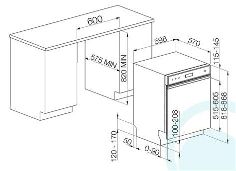us standard sizes for dishwashers blanco semi intergrated dishwasher bsid4610x appliances