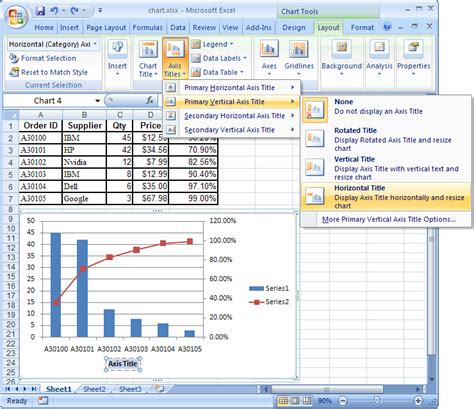 format secondary axis excel 2007 ms excel 2007 create a chart with two y axes and one