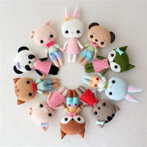 diy cute felt doll free sewing pattern and step by step cute felt patterns from gingermelon super cute kawaii