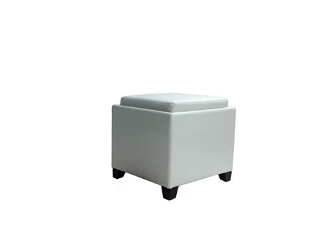 white storage ottoman with tray contemporary storage ottoman with tray white