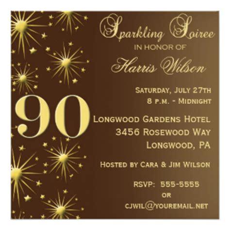 90th birthday invitations announcements zazzle co nz