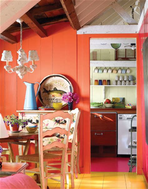 Interior Paint Colors To Sell Your Home by Yellow Orange Wall Pink Kitchen Vintage Fun Unique Color
