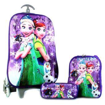 Lazada Jam Tangan Anak Perempuan Frozen bgc disney frozen fever elsa purple snow koper set