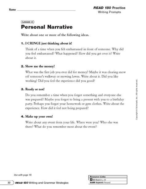 Fictional Narrative Essay Prompts by 7th Grade Common Narrative Writing Prompts