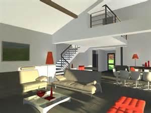 villa contemporaine avec mezzanine
