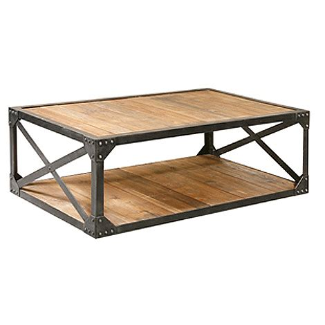 Scrolled Metal And Wood Coffee Table » Ideas Home Design