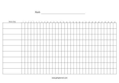 monthly goal habit tracker printable