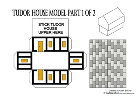 printable tudor house template tudor house nets teaching ideas