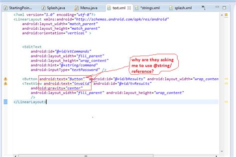 xml tutorial for java developers java why am i being asked to make my string in xml as