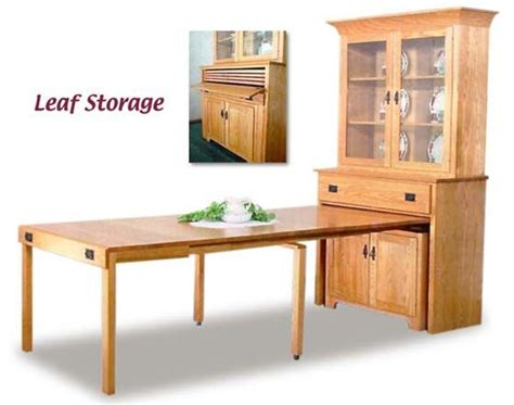 Kitchen Hutch With Pull Out Table Pull Out Dining Table Mission Pullout Console Table With