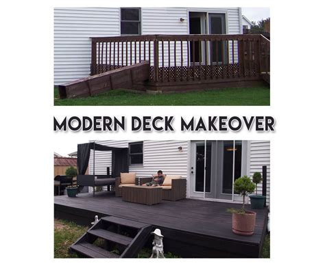 Modern Budget Deck modern budget deck modern deck makeover on a budget