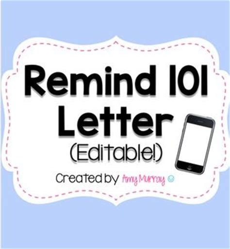 Parent Letter Remind 25 Best Ideas About Remind 101 On Curriculum Parent Meeting And