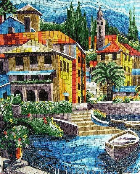 Style Co Mosaic By Lnd by Mosaic Landscape By Reem Derbala Mosaic And Stained