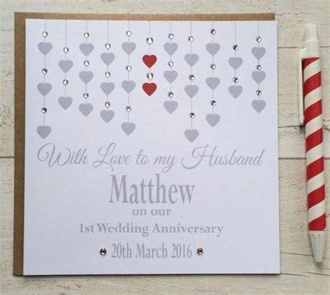 Handmade Anniversary Cards For Husband - best 25 1st wedding anniversary ideas on