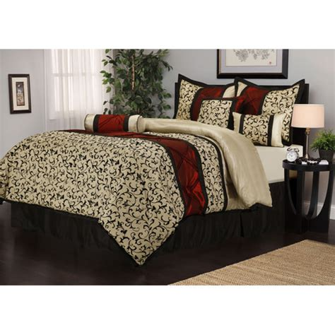 walmart bed sets king bella 7 piece bedding comforter set walmart com