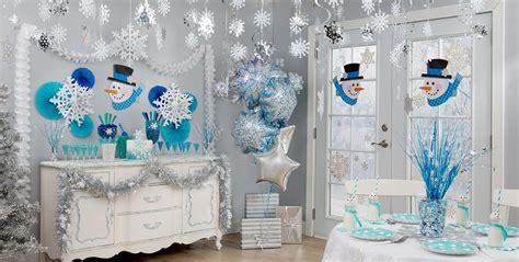 snowflake themed decorations snowflakes snowman theme city