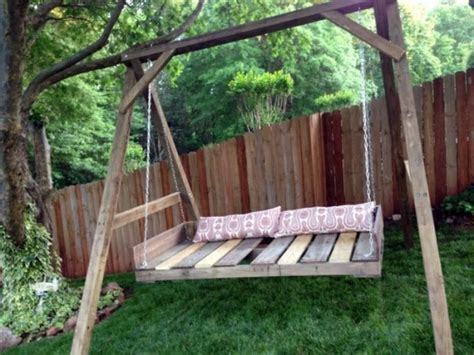 cool outdoor swings cool wooden garden swing from pallets interior design
