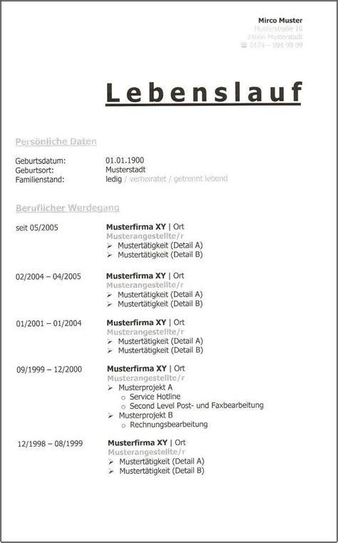 Lebenslauf Vorlage Kostenlos Schweiz lebenslauf muster kostenlose anwendung die