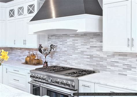 marble subway tile kitchen backsplash white cabinet marble countertop modern subway kitchen