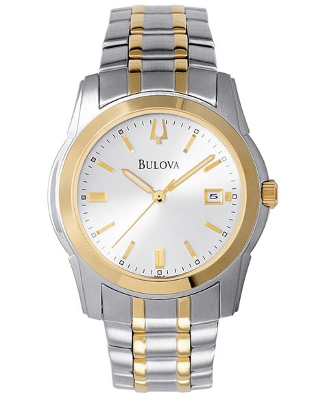 Hem Two Tone Grey bulova s two tone stainless steel bracelet 40mm 98h18 in gray for lyst