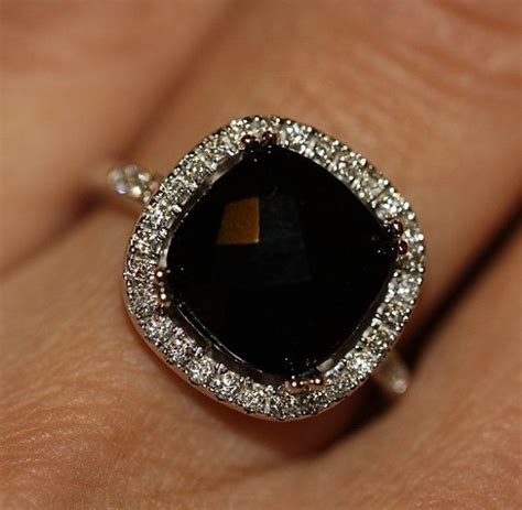 ideas  onyx engagement ring  pinterest