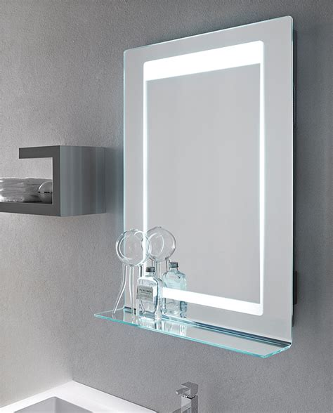 specchio con mensola per bagno specchiere bagno led retroilluminate led specchiere