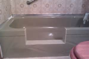 safeway step and tub cut tub tile counter refinishing