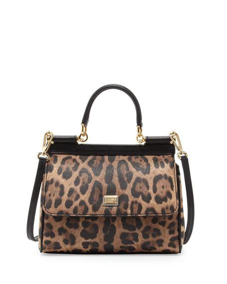 Dolce And Gabbana Leopard Print Mini Handbag by Dolce Gabbana Miss Sicily Small Leopard Print Satchel Bag