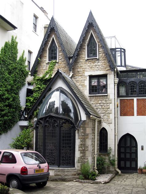 gothic house langford place  sketch   house