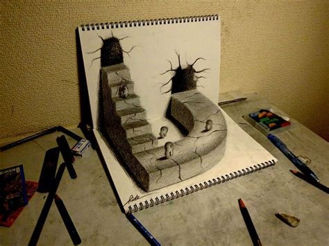 How To Make 3d Sketch On Paper - 3d pencil drawings pencil drawings designs free