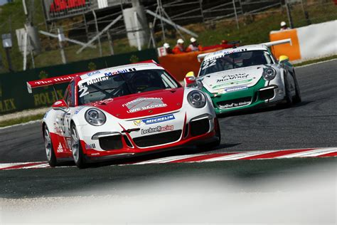 porche barcelona porsche mobil 1 supercup barcelona spain race report
