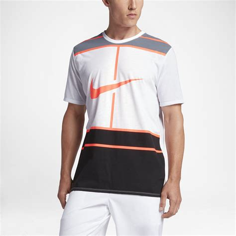 T Shirt Tennis nike mens tennis t shirt white bright mango