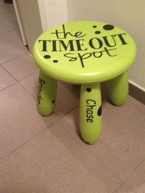 Time Out Stools by This Is A Time Out Stool I Made For A Friend I Can Also