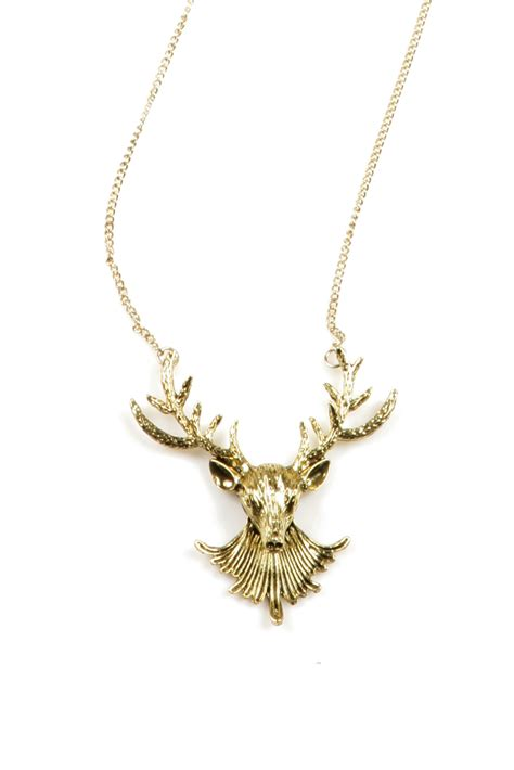 deer necklace from glendale by pink house shoptiques