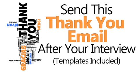 Thank You Card Template To Embed In Email by Send This Thank You Email After Templates Included
