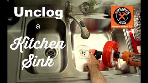 unclog  kitchen sink drain  home repair tutor youtube