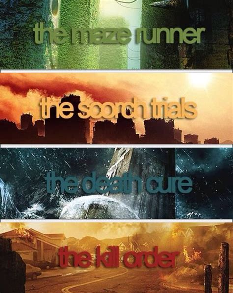 Maze Runner Film Order | the maze runner series by james dashner the maze runner