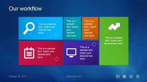 Metro Ui Slide Design For Powerpoint Slidemodel Powerpoint Ui Templates