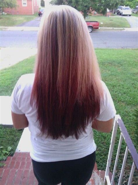 blonde and burgundy hairstyles 1000 ideas about burgundy blonde hair on pinterest