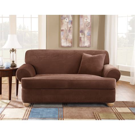 3 cushion couch slipcovers sure fit stretch pique t cushion three piece sofa