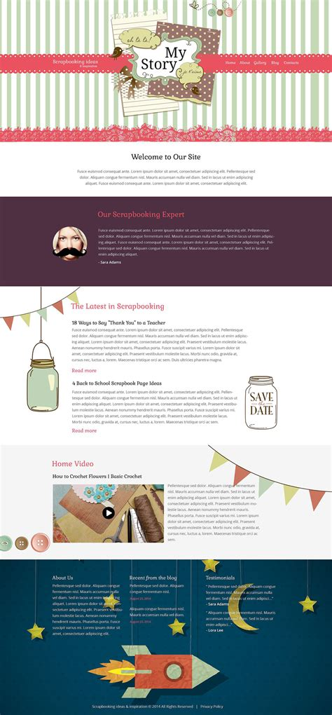 Crafts Responsive Website Template 52231 And Craft Website Templates