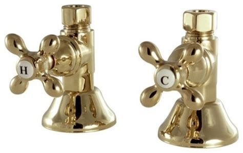 bathroom sink shut off valve kingston brass straight stop shut off valve polished