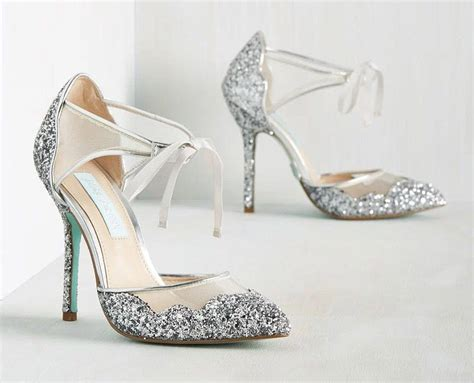 Silver Wedding Shoes by Sparkly Silver Wedding Shoes For Snazzy