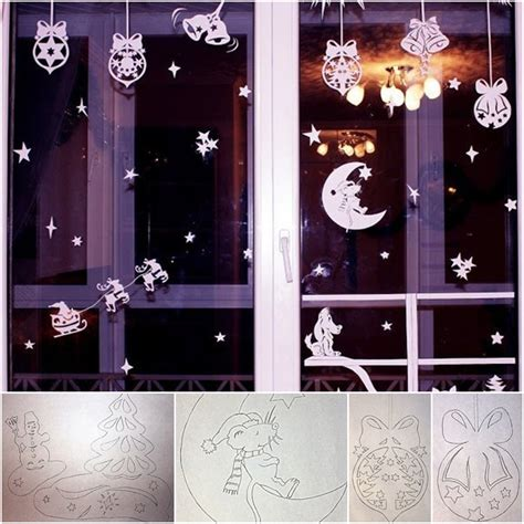 how to diy paper christmas window decorations from free